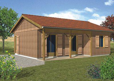 Maison en ossature bois Périgord C80
