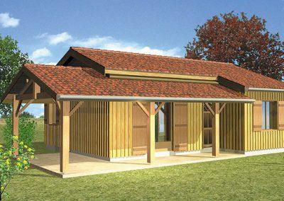 Maison bois Périgord C2000