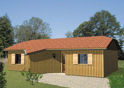 Maison bois Périgord C3000