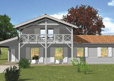 Maison ossature bois Périgord C4002