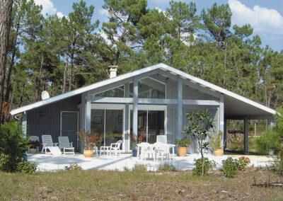 Maison bois Périgord G2002 gris