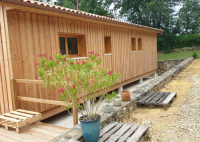 Maison bois sur plancher bois
