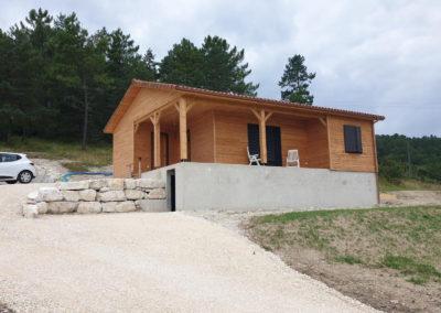 Maison ossature bois sur plancher hourdis